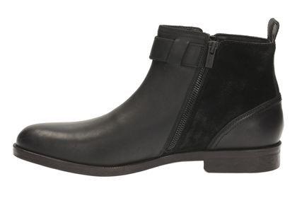 Clarks Brocton Mid - Black Leather - Mens Formal Boots   Clarks