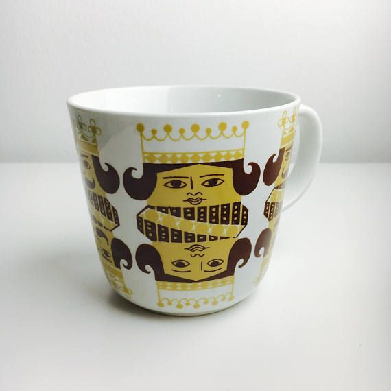 Very RARE vintage Arabia Finland ceramic mug named