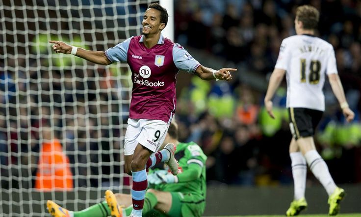 #AVFC 4-3 #Notts - MATCH PIC: @Scotty_Sinclair celebrates his hat-trick goal. #CapitalOneCup