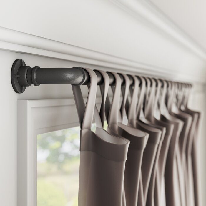Hoffman Industrial Single Curtain Rod Hardware Set In 2020