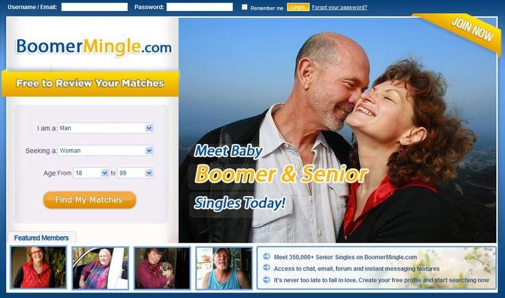 BoomerMingle.com is the first and largest dating site dedicated to Baby Boomers and Senior Singles. Meeting people to explore new relationships is not reserved to the young. More and more mature men and women are finding fun, entertainment, romance and love. We offers you a great platform to meet activities partners, travel companions or your dream lover!