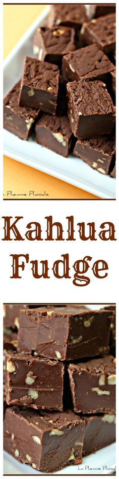 Kahlua Fudge - a chocolate lover's dream dessert!