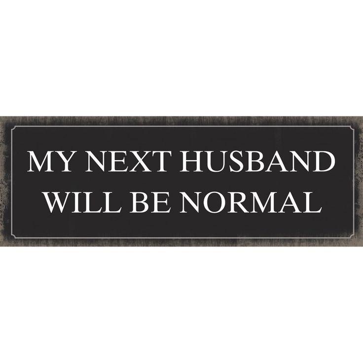Xavax Next Husband, dekoračná tabuľka na stenu, 39x14 cm