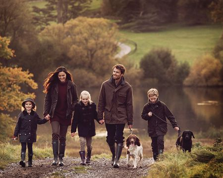 Live in a Barbour clothing ad