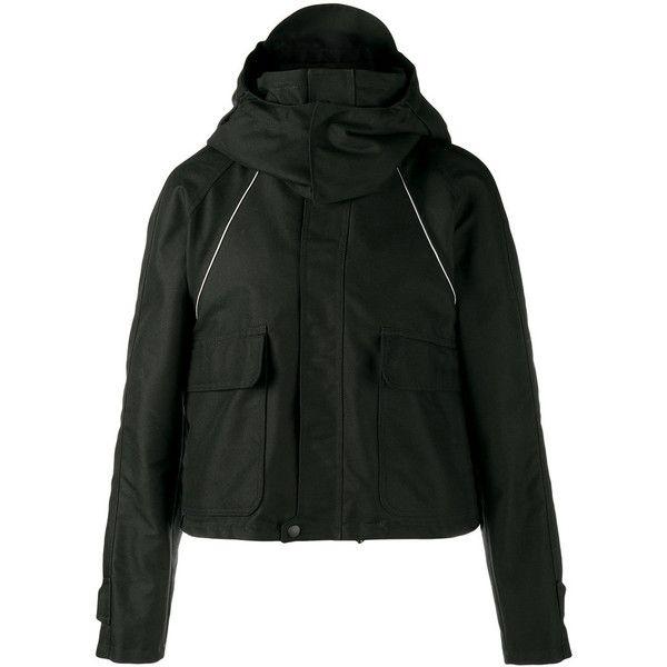 Balenciaga Balenciaga Cropped Parka Jacket ($2,250) ❤ liked on Polyvore featuring men's fashion, men's clothing, men's outerwear, men's jackets, black and mens parka jacket