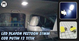 Takekimurah: LED Plafon Festoon 31MM COB Putih 12 Titik