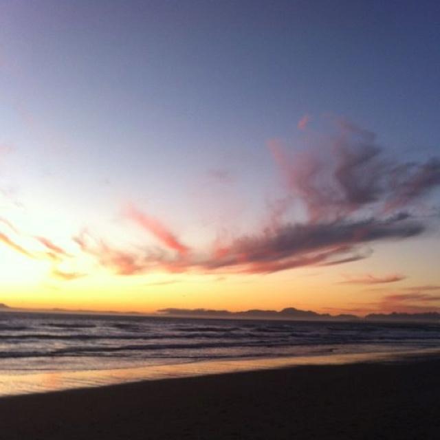 Sunset, Strand beach.
