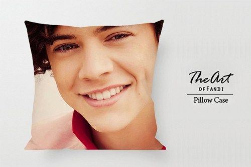 """Cute Harry Styles - Custom Square 18""""x18"""" One Side Pillow Case."""