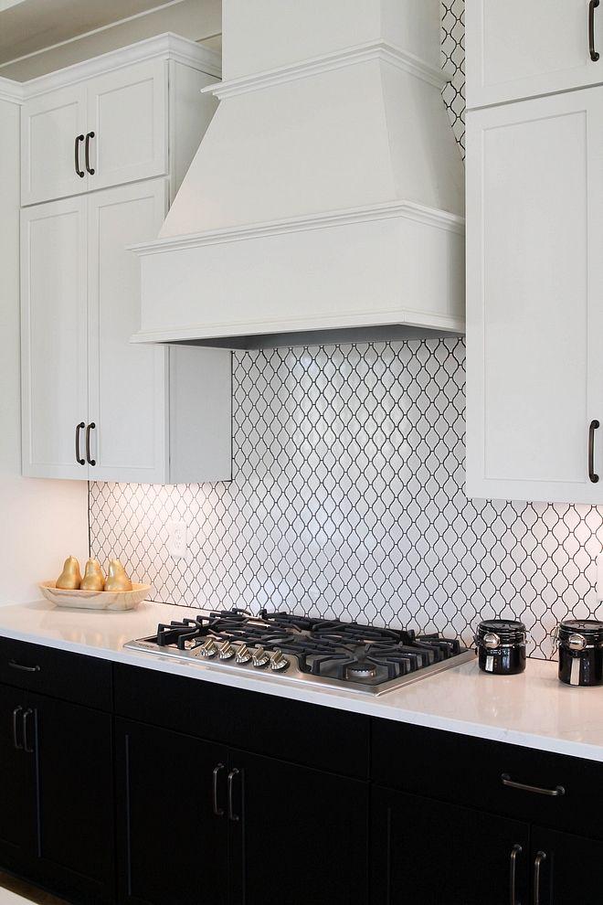Backsplash Tile Is White Lantern Tile With Charcoal Grout Kitchen Backsplash Tile Backsplashtil Lanter Lantern Tile Backsplash Lantern Tile White Lanterns