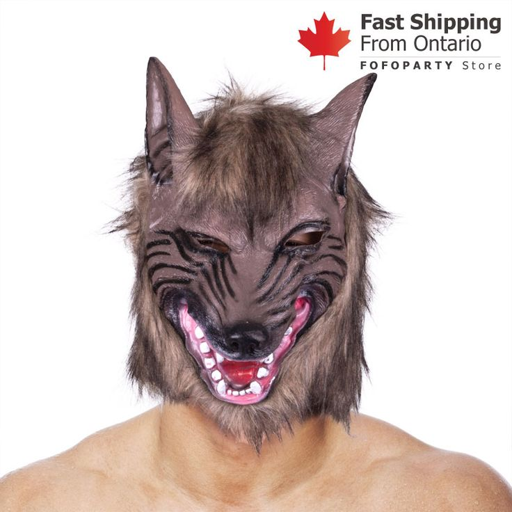 The frightening wolf party mask features faux fur and realistic details! Perfect choice for cosplay party and Halloween party. One size fits most teens and adults.