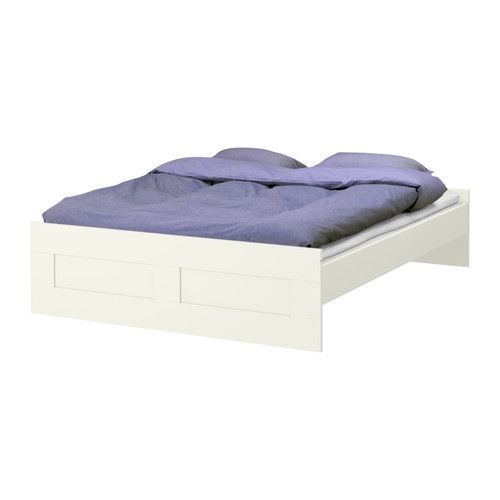 $129. 00  BRIMNES Bed frame IKEA Adjustable bed sides allow the use of mattresses of different heights.