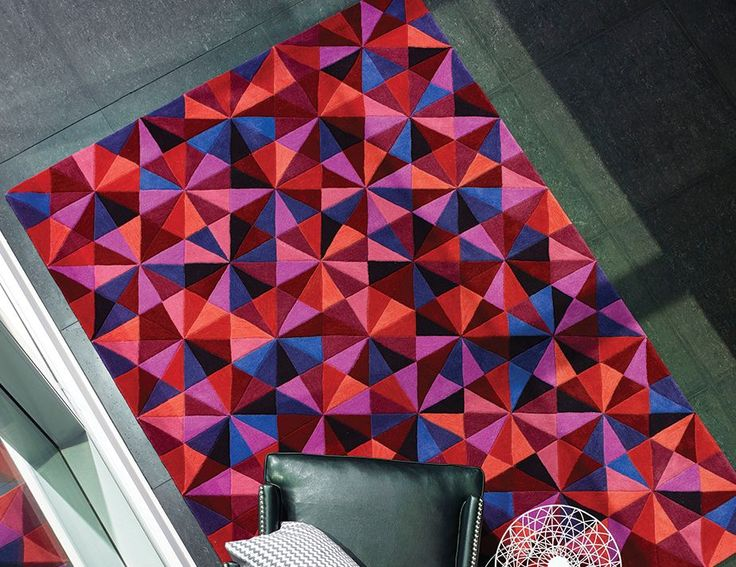 Jewel Citrus Berry Hand Tufted Plush Pile New Zealand Wool Blend Rug. Price from $999.