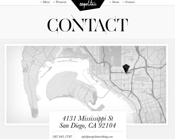 """21 Inspiring Examples of Contact Pages and Forms""    Maps are becoming a web design trend, IMO."