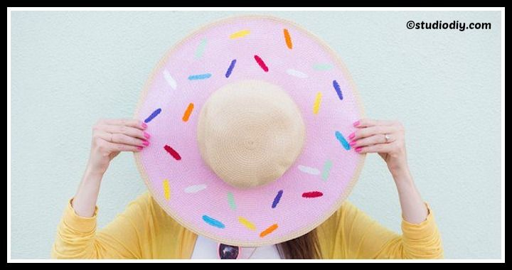 DIY Donut Floppy Hat Tutorial