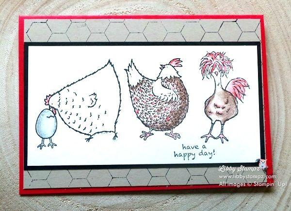 Freshly Brewqed Blog Hop using Watercolor Pencils - Hey Chick (SAB stamp set). Video tutorial on how to get chicken wire effect. Watercolor Pencils