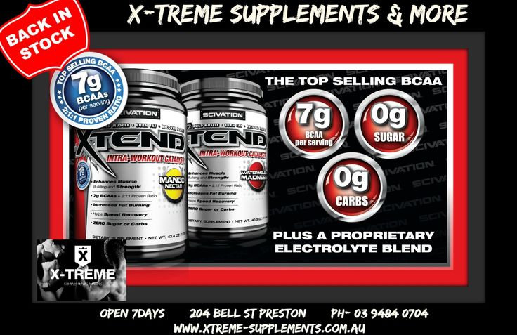 Great deals on Scivation X-Tend , come and visit our friendly staff at X-Treme Supplements today!