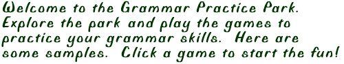 practicing grammar