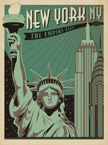 New York The Empire State Travel Print from www.ihearttravelart.co.uk