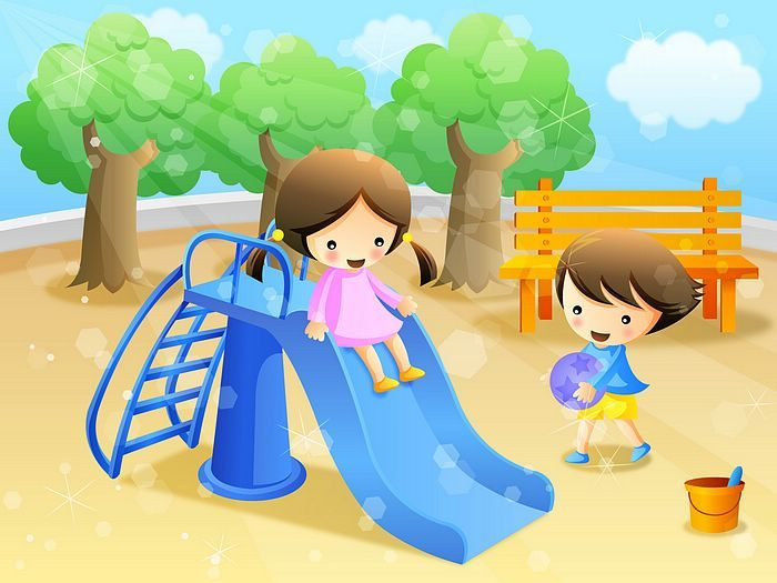 Happy Childhood - Colourful Illustrations for Children's Day - Children's illustration - Having Fun in the Park17