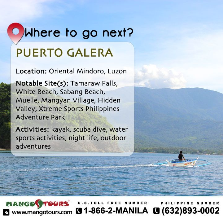 Mango Tours Where to go next Puerto Galera Oriental Mindoro