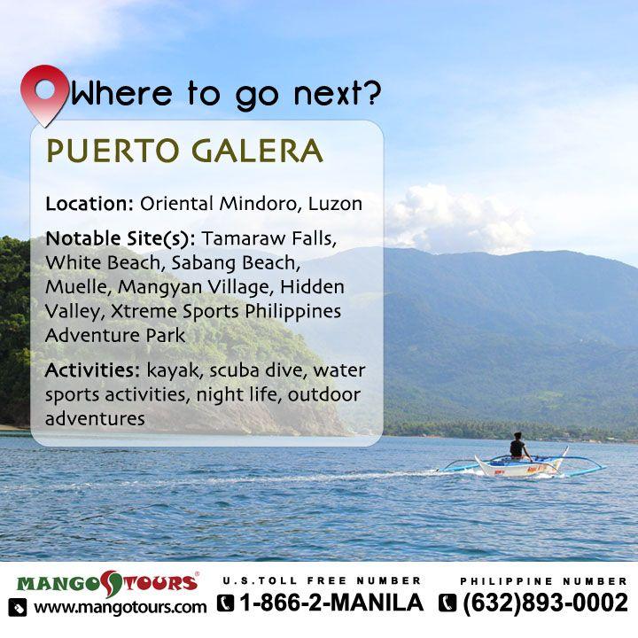 Mango Tours Where to go next Puerto Galera Oriental Mindoro