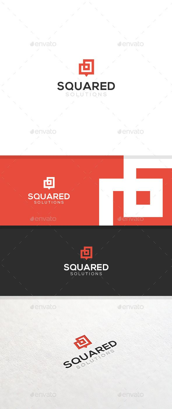Squared - Logo Template (Vector EPS, AI Illustrator, Resizable, CS, abstract, bold, box, clean, corporate, double, dual, effective, friendly, minimal, modern, new, red, shape, simple, squares, strong, timeless, unique)