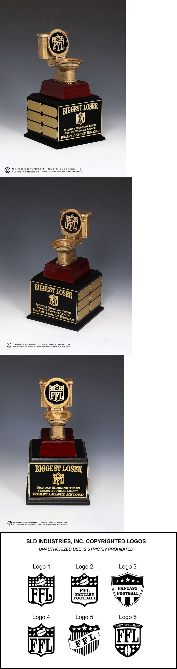 Other Football 2024: Fantasy Football Perpetual Trophy Toilet Last Place 12 Yr Biggest Loser -> BUY IT NOW ONLY: $54.4 on eBay!