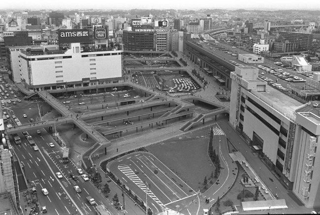 仙台駅前1982(S57) 第一ビルにams西武にS-PAL側面が見える貴重な写真