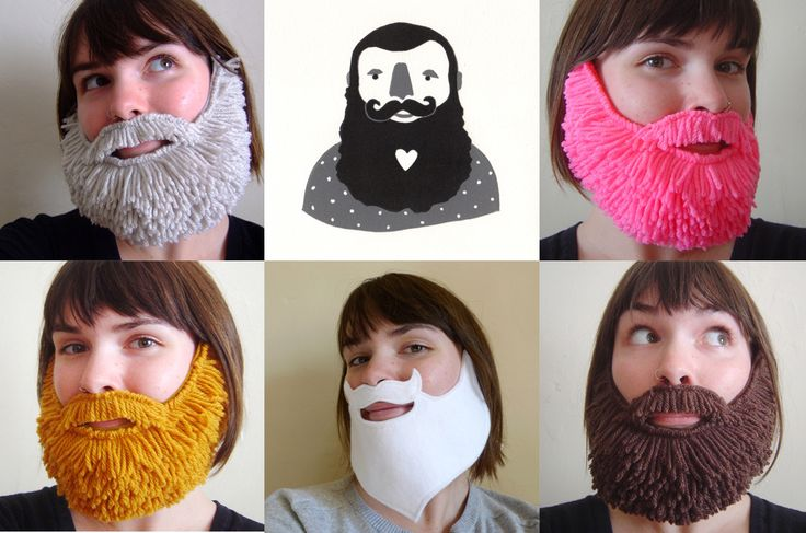 website shows how to make felt beard - need to figure out how to add the yarn