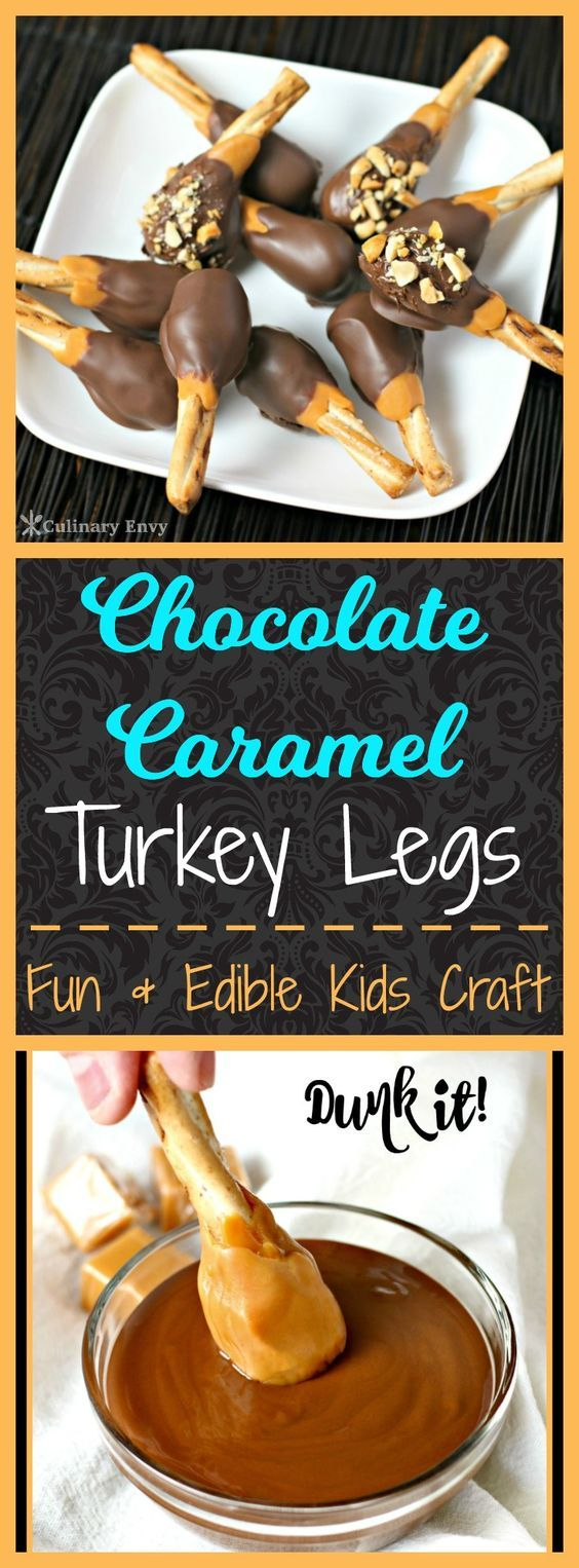 Add a little fun to your Thanksgiving this year by having your kids make these yummy, rich and chewy Chocolate Caramel Turkey Legs dessert.  Just 3 ingredients and minutes to make.  Click to read more!