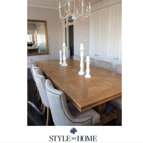 'ST REGIS' Parquetry Oak Dining Table