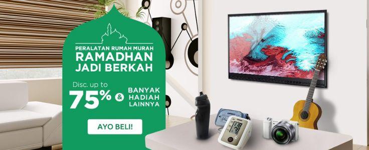 Berburu peralatan rumah untuk persiapan Ramadhan DISKON s.d 75% | Bhinneka.com    #promolebaran #promoramadhan #promopuasa #peralatanrumah #sale #hargalektroniklebaran #pricearea