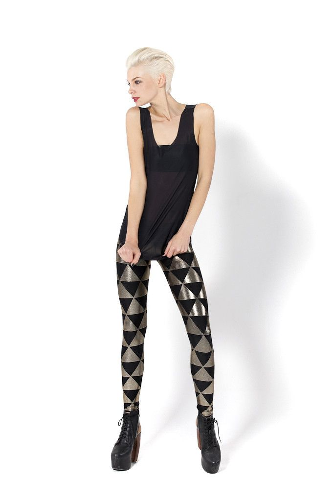 These look like Triforce leggings. SRSLY. ----- Triangle Gold Leggings - LIMITED