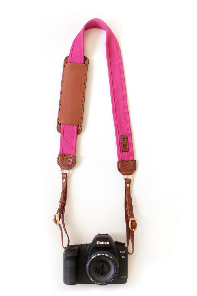 Canvas Camera Strap in Pink