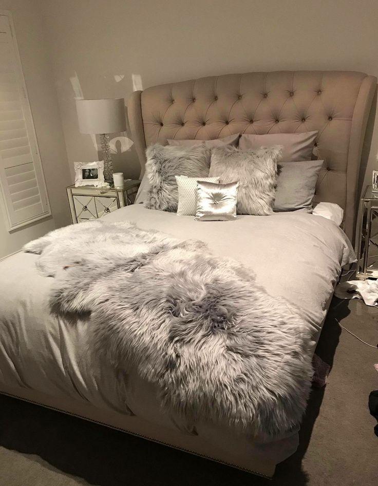 fur in the bedroom