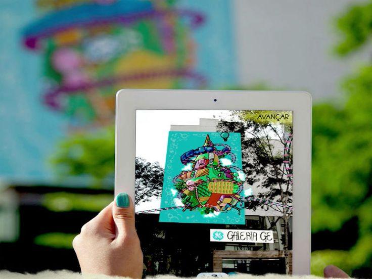 Arte e tecnologia se juntam no aplicativo gratuito que a GE Brasil acaba de lançar para os usuário de iPhone, iPod ou iPad. Agora, a obra realizada pelo Estúdio Colletivo, na Rua Amauri, poderá ser vista em realidade aumentada.