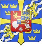 The House of Holstein-Gottorp, a cadet branch of the Oldenburg dynasty, ruled Sweden from 1751 until 1818, and Norway from 1814 to 1818. In 1743, Adolf Frederick of Holstein-Gottorp was elected crown prince of Sweden as a Swedish concession to Russia, a strategy for achieving an acceptable peace after the disastrous war of the same year. He became King of Sweden in 1751.