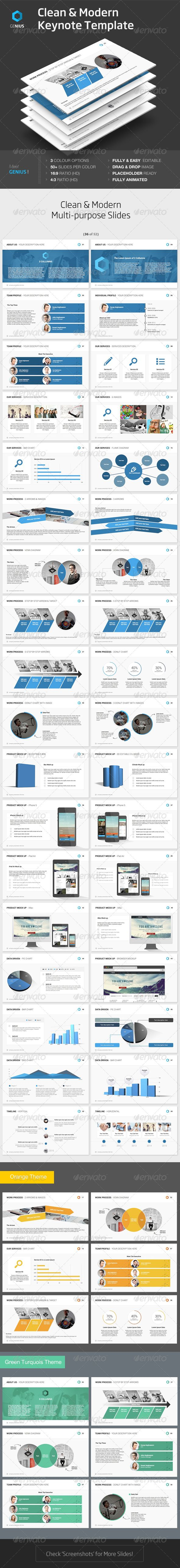 Genius - Keynote Template - Keynote Templates Presentation Templates