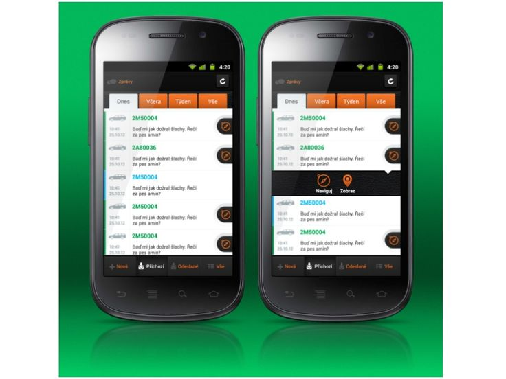 WD Fleet Messages - UI/UX - Android by Petr | Direct-services
