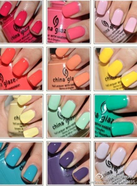 Fun summer nail colors