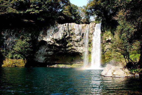 Jeongball Waterfall in Jeju Island