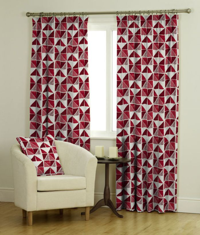 Curtains Ascot Red