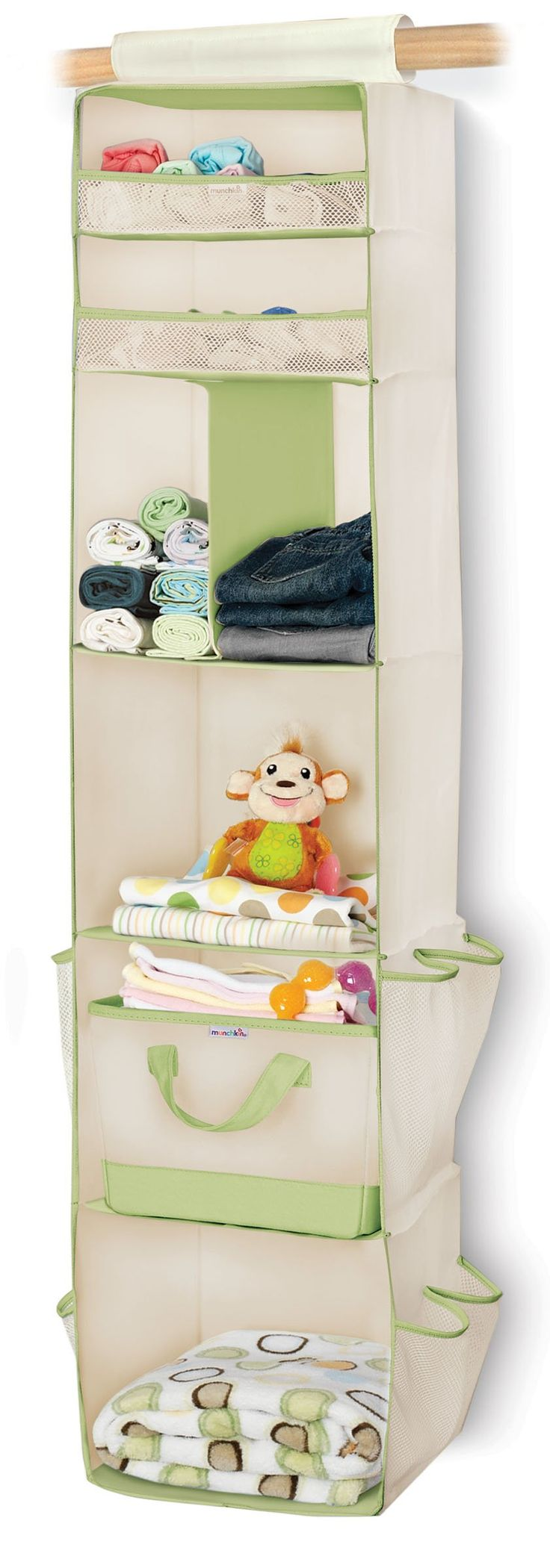 Munchkin 6 Shelf Closet Organizer: If your kids share a room with you or a sibling this is a great way to use your space well!