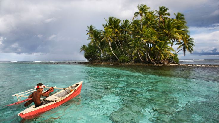 Tuvalu island in the pacific ocean threatens to disappear in the next 50 years due to sea level rise.