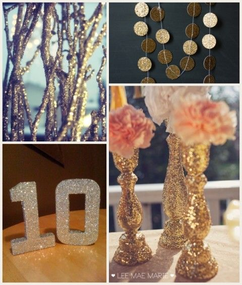 Glam wedding with a penny budget