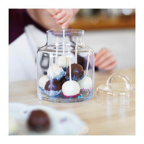 """$8.99 HEMSMAK Glass Jar with lid, 7""""H x 5""""DIA 34oz"""