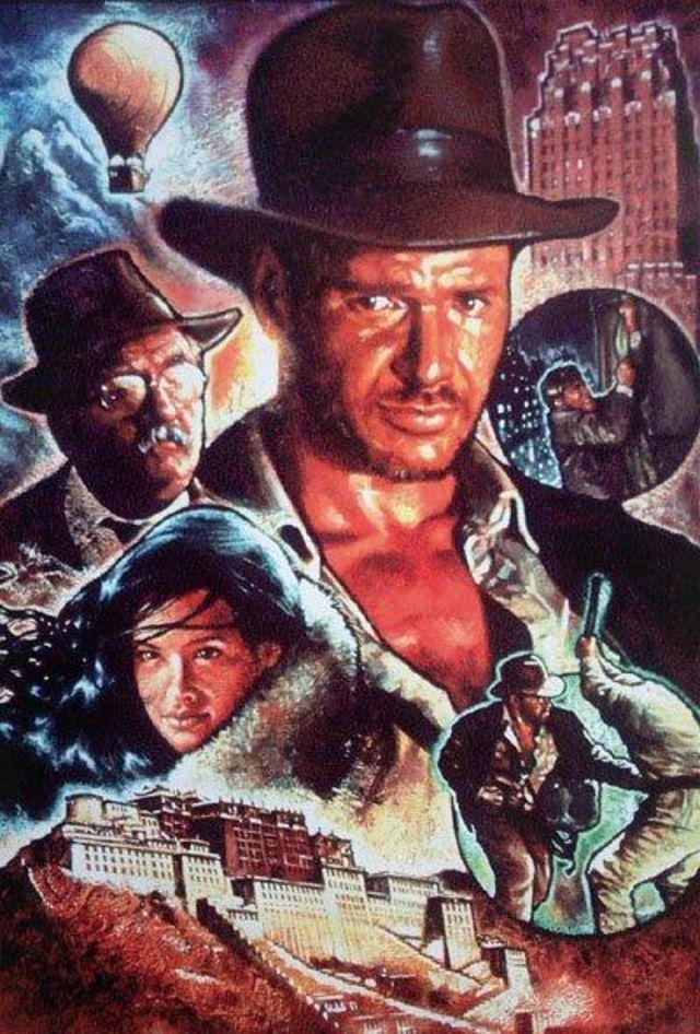 Indiana Jones and the Lost Horizon - portada del comic que no llegó a salir a la venta - de Pete Ford y Hugh Fleming para Dark Horse Comics