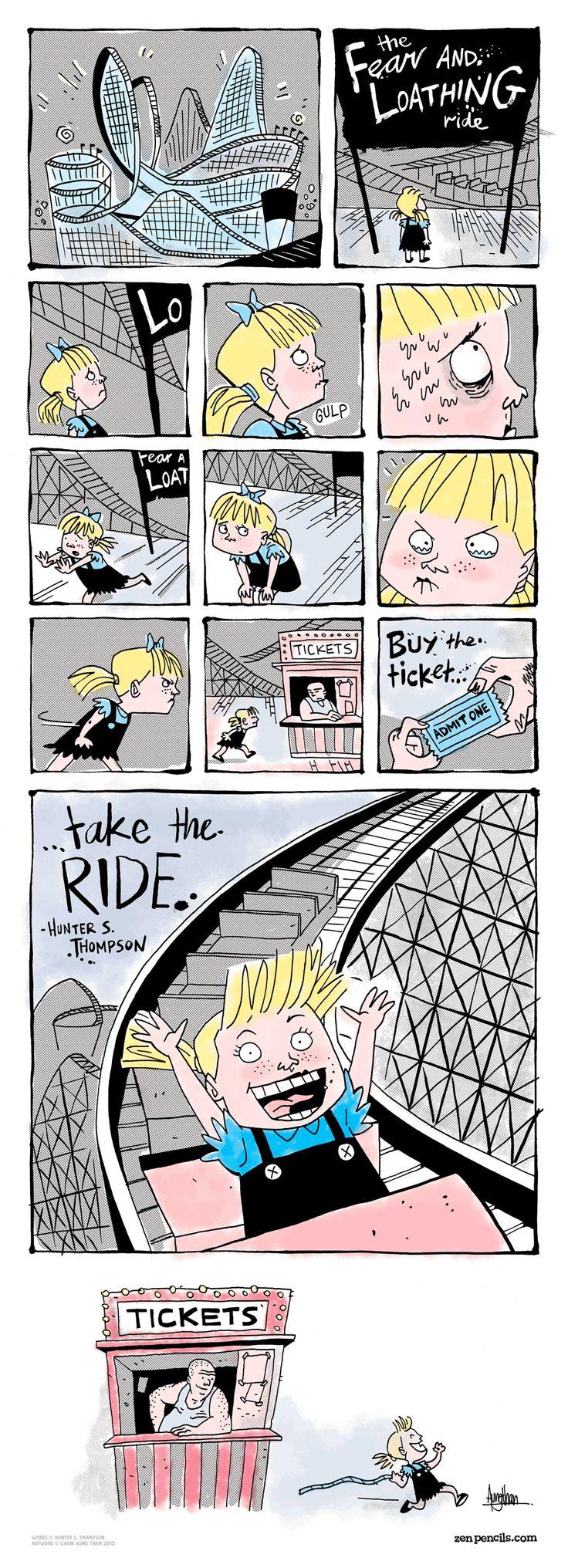 awesome: Pencil Comic, Hunters S Thompson, Interesting Artworks, Hunters Thompson, Comic Books, Inspiration Comic, Cheap Nike, Loath Riding, Riding Everybodi Has A Brain