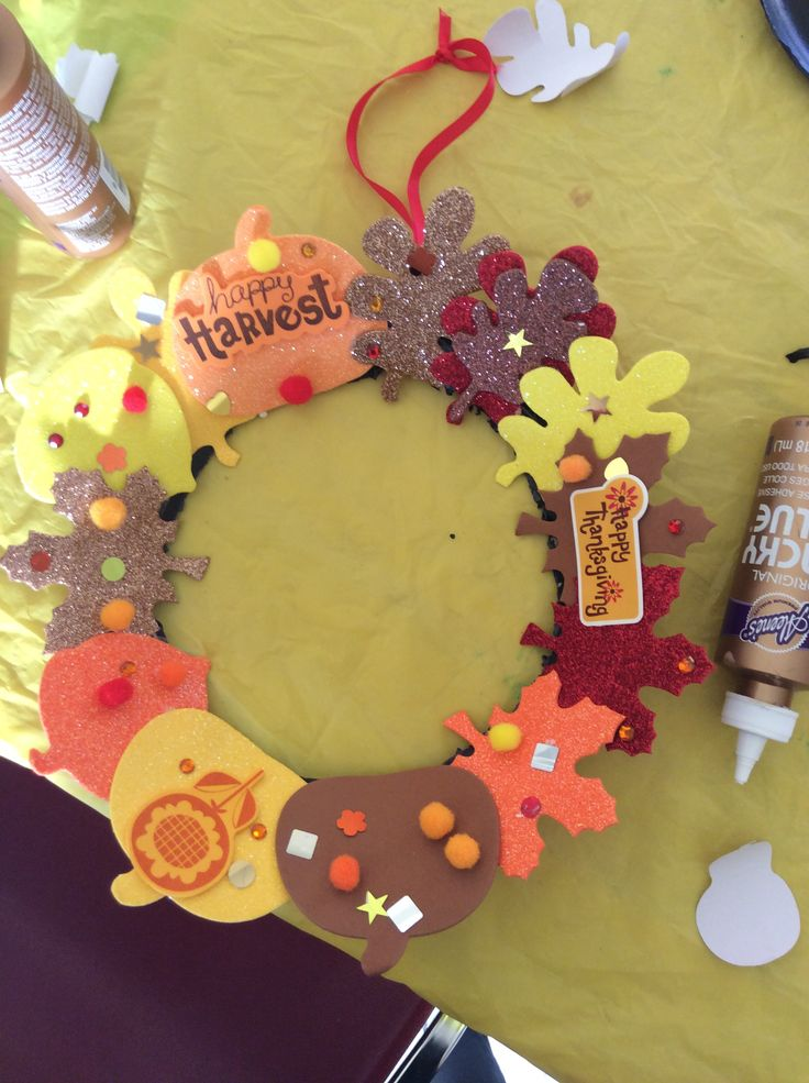 michaels kids crafts harvest fall wreath sunday school craft michael s 2431