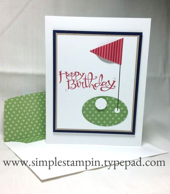 Happy Birthday Golf Card - Stampin' Up!